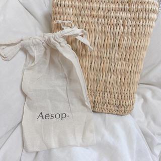 イソップ(Aesop)の〆Aesop 巾着ショッパー ※通常サイズ(ショップ袋)