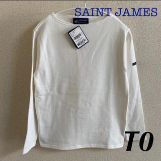 セントジェームス(SAINT JAMES)の未使用品 セントジェームス ウェッソン 白 無地 T0 国内正規品(カットソー(長袖/七分))