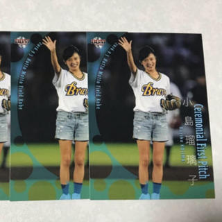 オリックスバファローズ(オリックス・バファローズ)の16BBM 小島瑠璃子 始球式レギュラーカード2枚セット(女性タレント)