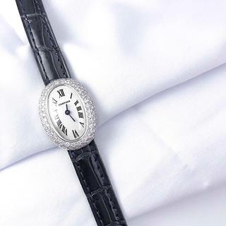 Cartier - 【保証書付】カルティエ ミニベニュワール K18WG ダイヤ レディース 時計