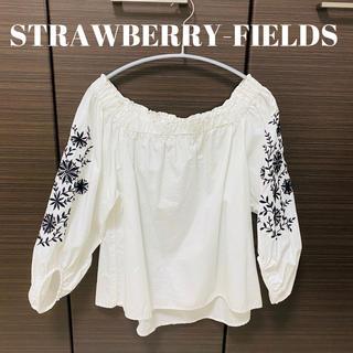 STRAWBERRY-FIELDS - STRAWBERRY-FIELDS♡オフショル刺繍ブラウス
