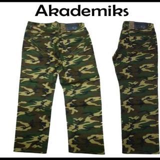 アカデミクス(AKADEMIKS)の新品 アカデミックス 迷彩 デニムパンツ 34(86cm)(デニム/ジーンズ)