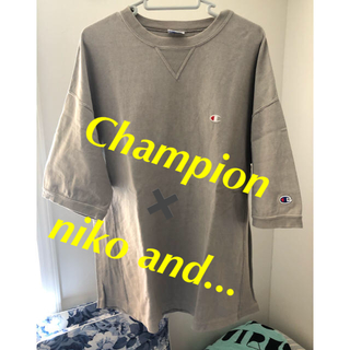 niko and... - Ⓜ️Champion✖️niko and...REVERSE WEAVE Tee