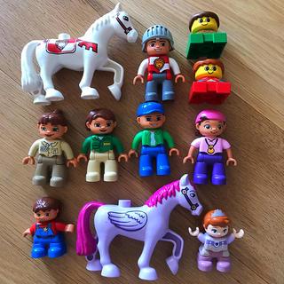 Lego - LEGO デュプロ 人、馬、ネコ 12体