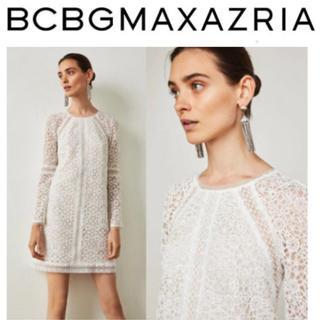 BCBGMAXAZRIA - 【新品】BCBG ホワイトレース ギュイプールワンピース