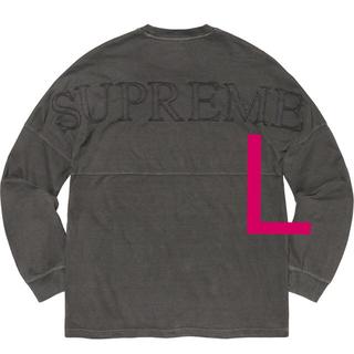 シュプリーム(Supreme)のSupreme Overdyed L/S Top 20SS L black 新品(Tシャツ/カットソー(七分/長袖))