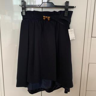 ウィルセレクション(WILLSELECTION)の半額以下 新品タグ付き ネイビー  スカート リボン ウィルセレクション(ひざ丈スカート)