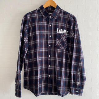 シュプリーム(Supreme)のEXAMPLE PLAID SHIRT / NAVY x RED(シャツ)