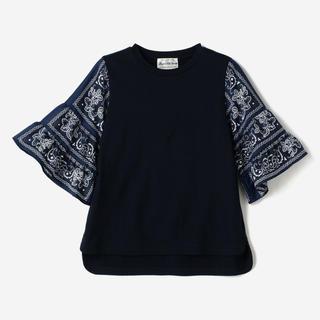 ミュベールワーク(MUVEIL WORK)の【CONVERSE TOKYO×MUVEIL】バンダナイチゴTシャツ ネイビー(Tシャツ(半袖/袖なし))