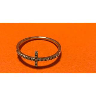 エテ(ete)の【美品】ete  pt900 ダイヤモンド クロスリング(リング(指輪))