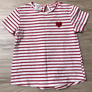 ZARA KIDS - ZARA  女の子90   ハートボーダーTシャツ