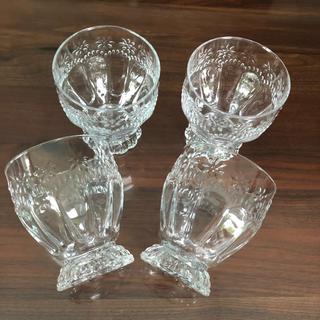 Francfranc - Francfranc 美品 クリアグラス4点セット フラワー フランフラン お花