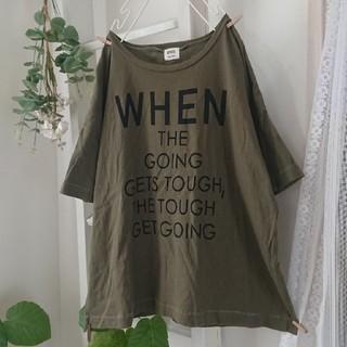CUBE SUGAR - CUBE SUGAR/evo.*後ろワッペン 半袖Tシャツ ゆったり