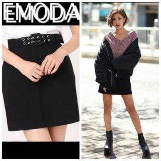 エモダ(EMODA)の新品未使用 EMODA ダブルベルトスカート(ミニスカート)