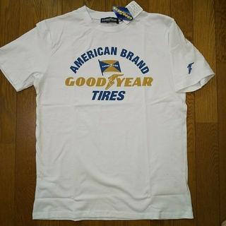 グッドイヤー(Goodyear)のLサイズ  タグ付き新品 グッドイヤー 半袖Tシャツ 白(Tシャツ/カットソー(半袖/袖なし))