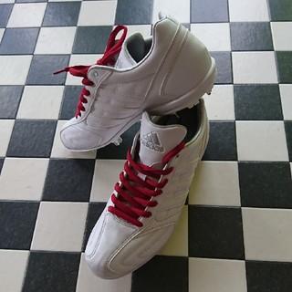 アディダス(adidas)のアディダス 白スパイク26.5cm(シューズ)