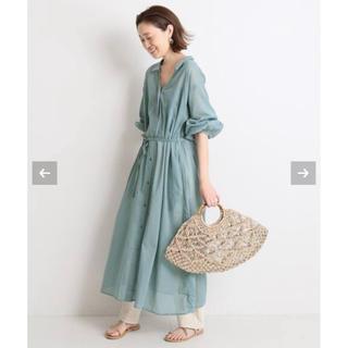 IENA SLOBE - SLOBE IENA  新品★コットンボイルシャツワンピース★