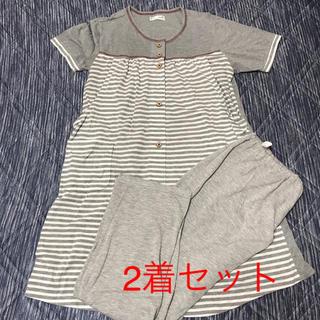 マタニティパジャマ 半袖 M〜L 2着セット(マタニティパジャマ)