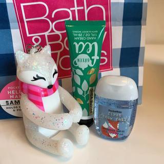 バスアンドボディーワークス(Bath & Body Works)の【新品】バスアンドボディワークス キツネ ホルダー 3点セット(キーホルダー)