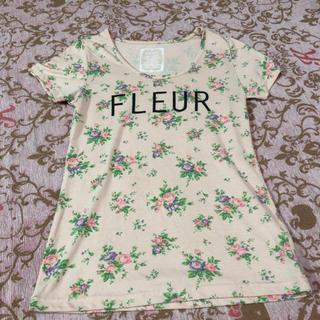 サルース(salus)のsalus 花柄Tシャツ M(Tシャツ(半袖/袖なし))