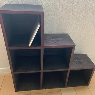 ディスプレイラック 木製 アジアン家具(棚/ラック/タンス)