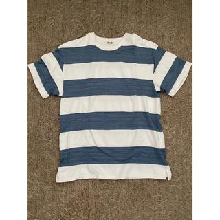 ロンハーマン(Ron Herman)のRHCロンハーマン インディゴボーダーTシャツ Mサイズ(Tシャツ/カットソー(半袖/袖なし))