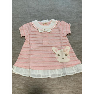 クーラクール(coeur a coeur)のクーラクール うさみみ半袖Tシャツ 90サイズ(Tシャツ/カットソー)