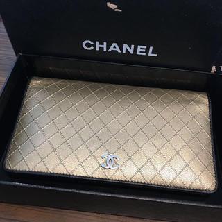 シャネル(CHANEL)のシャネル正規美品マトラッセ長財布(財布)
