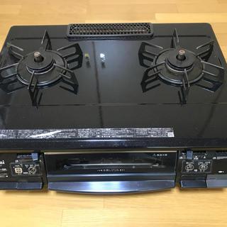 リンナイ(Rinnai)のリンナイガスコンロ LPガス 左火力大 センサー付 KSM660T ガラストップ(ガスレンジ)