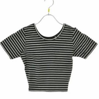 EMODA - 【新品未使用】EMODA  ボーダー  Tシャツ ブラック ホワイト