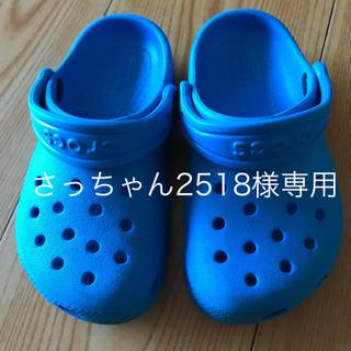 crocs - crocs 子ども サンダル ブルー