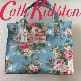 Cath Kidston - 新品 キャスキッドソン ボックスバッグ キャンディーフラワーブルー