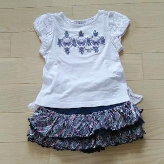 アナスイミニ(ANNA SUI mini)のアナスイミニ 半袖カットソー キュロット 110cm(Tシャツ/カットソー)