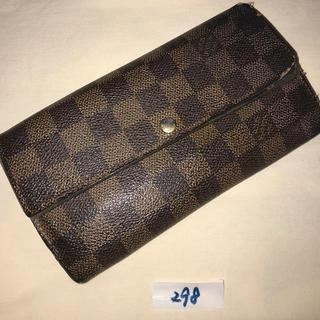 LOUIS VUITTON - 298 ルイヴィトン ダミエ ポルトフォイユ サラ長財布