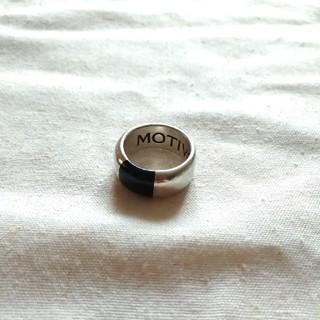 モーティブ(MOTIVE)のMOTIVe シルバーリング シルバー 925 オニキス ブラック リング (リング(指輪))