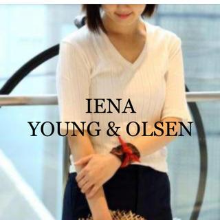 IENA - *IENA別注 YOUNG & OLSEN  5分丈Vネックリブ*