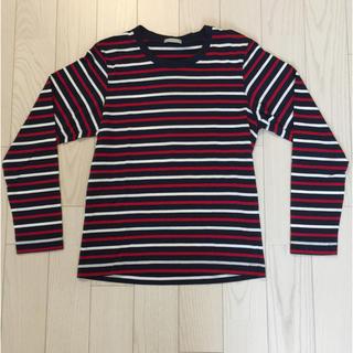 ジーユー(GU)のGU ボーダー ロンT メンズ Sサイズ(Tシャツ/カットソー(七分/長袖))