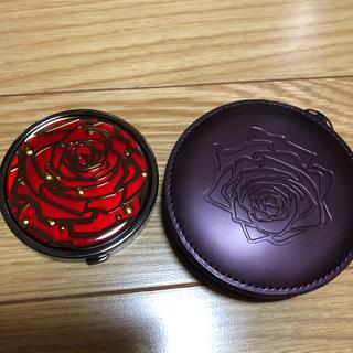 シセイドウ(SHISEIDO (資生堂))の資生堂 非売品 ミラー 鏡 バラ柄 拡大鏡(ミラー)