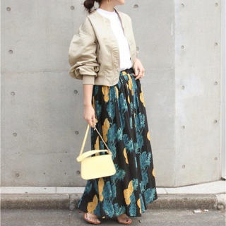 Spick and Span - Spick & Span オオバナプリントギャザースカート(38サイズ)