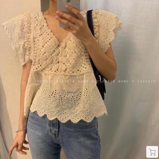 dholic - サマーニット ブラウン 韓国ファッション