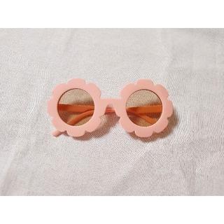 白、ピンクおまとめ フラワーサングラス キッズ ベビー 新品未使用(サングラス)