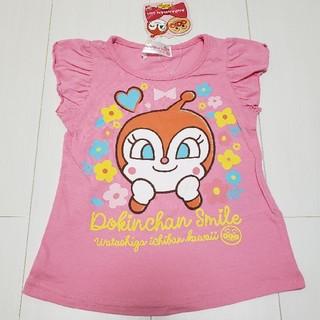 アンパンマン(アンパンマン)の新品タグ付きドキンちゃん袖フリルTシャツ90センチ(Tシャツ/カットソー)