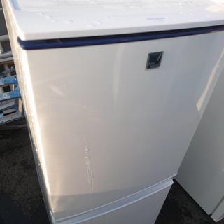 Z43209 シャープ 2ドアノンフロン冷蔵庫 SJ-14E2-KB (冷蔵庫)