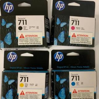 ヒューレットパッカード(HP)のHP711  プロッター  インク  4色 8個セット(オフィス用品一般)