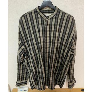 vintageノーカラーチェックシャツ(シャツ)