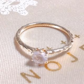 ノジェス(NOJESS)の〈ノジェス〉 ローズクオーツ  リング 5号(リング(指輪))