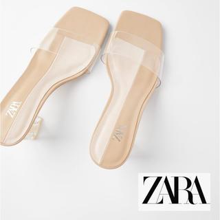 ZARA - 【美品】今期ZARA 39 クリアアクリルサンダル