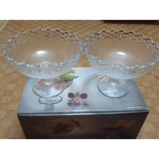 トウヨウササキガラス(東洋佐々木ガラス)の【お値下げ!】佐々木硝子 ガラスボール2点セット(食器)