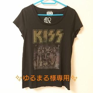 アナザーエディション(ANOTHER EDITION)のAnother Edition KISSプリント Tシャツ ブラック(Tシャツ(半袖/袖なし))