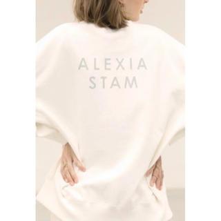 ALEXIA STAM - ALEXIA STAM バックロゴスウェット